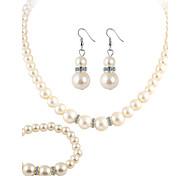economico -Per donna Cristallo / Strass Perla / Cristallo / Perle finte Parure di gioielli 1 collana / 1 paio di orecchini / 1 bracciale - Lusso /