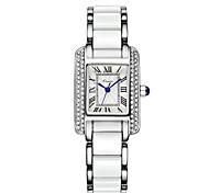 Women's Fashion Watch Quartz Alloy Band Elegant Luxury Blue Silver