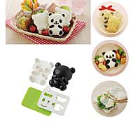 Недорогие -4 в 1 baby panda суши рисовая форма onigiri формирователь жареный морская водоросль резак кухонные инструменты