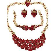 Jewelry Set Ring Necklace/Bracelet Crystal Rhinestone Personalized Floral Geometric Circular Unique Design Rhinestones Fashion Euramerican