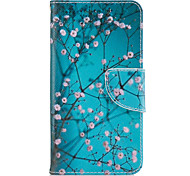 For Samsung Galaxy J3(2016) J5(2016) Case Cover Plum Blossom Pattern PU Material Painted Mobile Phone Case J3 Prime