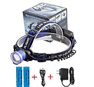 U'King Headlamps Headlight LED 2000 lm 3 Mode Cree XM-L T6 Alarm Adjustable Focus Multifunction Compact Size Easy Carrying High Power for