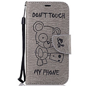 For Samsung Galaxy A3(2017) A5(2017) Case Cover Bear Pattern PU Material Embossed Mobile Phone Case A5(2016) A3(2016)
