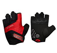 Недорогие -SANTIC Спортивные перчатки Перчатки для велосипедистов Дышащий Износостойкий Ударопрочность Защитный Фитиль Без пальцев Эластан Терилен