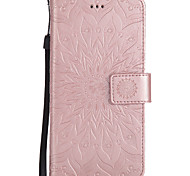 For Wiko Pulp Fab 4G Lenny3 Lenny2 Pulp PU Leather Material Sun Flower Pattern Embossed Phone Case