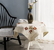 Недорогие -для продажи квадратная вышитая скатерть 100% хлопок свадебная вечеринка скатерть 85 * 85 см (34 * 34 дюйма)