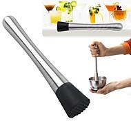 1Pcs  New Cocktail Muddler Stainless Steel Bar Mixer Barware Mojito Cocktail Diy Drink Fruit Muddler Crushed Ice Barware Bar Tool