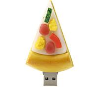 abordables -pizza de 16 GB de disco unidad flash USB 2.0 de goma
