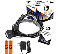 U'King Headlamps Headlight LED 2000 lm 3 Mode Cree XM-L T6 with Batteries and Chargers Compact Size Easy Carrying High Power Multifunction