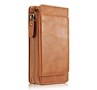 For iPhone 8 iPhone 8 Plus Case Cover Card Holder Wallet Full Body Case Solid Color Soft Genuine Leather for Apple iPhone 8 Plus iPhone 8