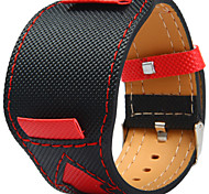 cheap -Canvas leather Watch Band Strap Black 20cm / 7.9 Inches 2cm / 0.8 Inches