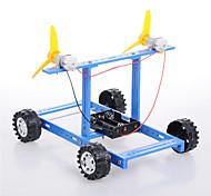 cheap -Crab Kingdom®  Model Assembled DIY Technology Handmade DIY Blue Wind Car Number 18