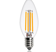 cheap -1pc 4W 360 lm E14 LED Filament Bulbs C35 4 leds COB Decorative Warm White Cold White 220-240V