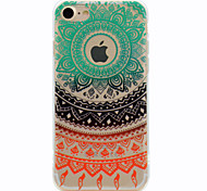 Недорогие -Для С узором Кейс для Задняя крышка Кейс для Кружевной дизайн Мягкий TPU для Apple iPhone 7 Plus iPhone 7