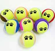 Dog Toy Pet Toys Ball Chew Toy Durable Footprint Halloween Tennis Ball Rubber For Pets