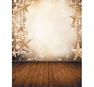 1.5 x 2.1m Vinyl Background Cloth Photography Christmas Fantasy Snowflake Stars