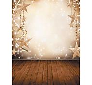 1,5 х 2,1 м винил фона ткани Фотография рождественские фантазии снежинка звезды