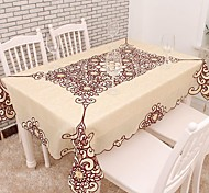cheap -Cotton Blend Square Table Cloth Embroidered Eco-friendly Table Decorations