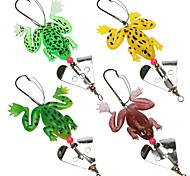 "4 pcs Soft Bait Others Fishing Lures Soft Bait Frog Assorted Colors g/Ounce,90 mm/3-1/2"" inch,Soft Plastic SiliconSea Fishing Bait"