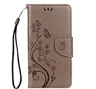 For Huawei P8 Lite (2017) Nova PU Leather Material Butterfly Flower Pattern Solid Color Phone Case Honor 8 Honor 5C Honor 7 P9 Lite P9 Y6 II Y5 II
