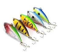 """5 pcs Cebos Señuelos duros Vibración Colores Surtidos g/Onza,55 mm/2-1/4"""" pulgada,Plástico duroPesca de Mar Pesca de baitcasting Pesca al"""