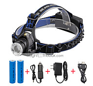 U'King Headlamps Headlight LED 2000 lm 3 Mode Cree XM-L T6 Adjustable Focus Compact Size Zoomable Easy Carrying for Camping/Hiking/Caving