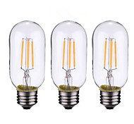 cheap -4W B22 E26/E27 LED Filament Bulbs 4 leds COB Dimmable Warm White 500-600lm 2700-3500K AC 220-240 AC 110-130V