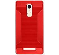 abordables -Coque Pour Xiaomi Antichoc Coque Couleur unie Flexible TPU pour Xiaomi Redmi Note 3 Xiaomi Redmi 3