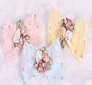 cheap -Cat Dog Hair Accessories Dog Clothes Princess Yellow Blue Pink Chiffon Costume For Pets Cute Birthday Fashion Wedding