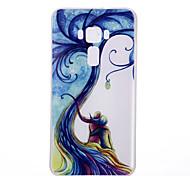 For Asus Zenfone 3 ZE520KL ZE552KL Tree Pattern Relief Luminous TPU Material Phone Case