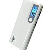 13000mAhbanco de la energía de la batería externa Multisalida con el cable Linterna Corriente con Ajuste Automático 13000 1000/2100