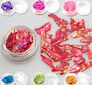 1bottle Sweet Style Fashion Colorful Nail Art Glitter Shell Paillette Decoration Beautiful Decoration Nail DIY Beauty Slice Design BK01-13