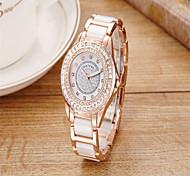 Жен. Модные часы Кварцевый Керамика Группа На каждый день Серебристый металл Розовое золото