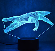 Christmas Crocodile Touch Dimming 3D LED Night Light 7Colorful Decoration Atmosphere Lamp Novelty Lighting Christmas Light