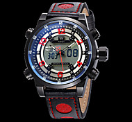 Men's Fashion Watch Quartz Calendar / date / day Water Resistant / Water Proof Leather Band Luxury Cool Black White Blue Red Yellow