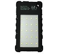 banco de la energía de la batería externa 5V 2.0A #A Cargador de batería Linterna Multisalida Carga Solar Impermeable LED