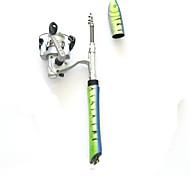 Недорогие -Спиннинг Удилище для подледной рыбалки Алюминий 100 см Ловля со льда 5 Секции Рыболовные удочки + Катушки для спиннинга Fast (F) Тяжелая