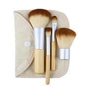 cheap -4 Powder Brush Concealer Brush Lip Brush Eyeshadow Brush Blush Brush Makeup Brush Set Synthetic Hair Travel Professional Hypoallergenic