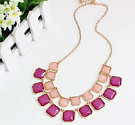 Women's Pendant Necklaces Statement Necklaces Multi-stone Synthetic Gemstones Chrome Unique Design Fashion Euramerican Jewelry For Party