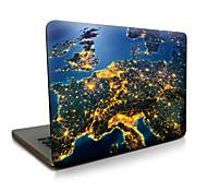 Para macbook air 11 13 / pro13 15 / pro con retina13 15 / macbook12 la tierra en la noche describió la caja del ordenador portátil de la