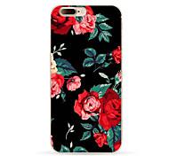 Para iPhone X iPhone 8 iPhone 8 Plus Case Tampa Estampada Capa Traseira Capinha Flor Macia PUT para Apple iPhone X iPhone 8 Plus iPhone 8