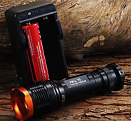 Torce LED Torce LED 1800 Lumens 5 Modo Cree XM-L T6 Messa a fuoco regolabile Zoom disponibile Compatto per
