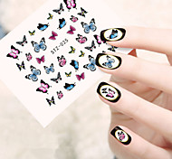 5pcs/set Sweet Style Fashion Butterfly Design Nail Water Transfer Decals Beautiful Butterfly Design Nail Beauty Decoration Sticker STZ-025