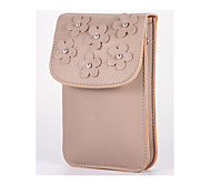 For Wallet Shockproof Case Pouch Bag Case Solid Color Hard PU Leather for Universal