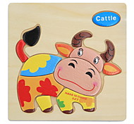 Puzzle Puzzles de Madera Juguete Educativo Juguetes Animales Manualidades Niños 1 Piezas