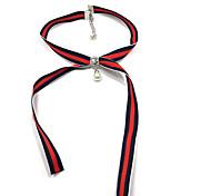 cheap -Women's Bowknot Dangling Style Pendant Classic Choker Necklace Imitation Pearl Rhinestone Fabric Choker Necklace , Daily Casual Office &