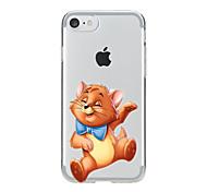 Недорогие -Назначение iPhone X iPhone 8 Чехлы панели Прозрачный С узором Задняя крышка Кейс для Кот Мягкий Термопластик для Apple iPhone X iPhone 8