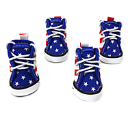 Dog Shoes & Boots Cute Sports Fashion Color Block Blue For Pets