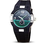 Жен. Спортивные часы Модные часы Кварцевый силиконовый Группа Черный