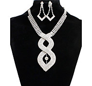 Women's Bridal Jewelry Sets Synthetic Diamond Fashion Wedding Party Special Occasion Daily Alloy Heart 1 Necklace 1 Pair of Earrings